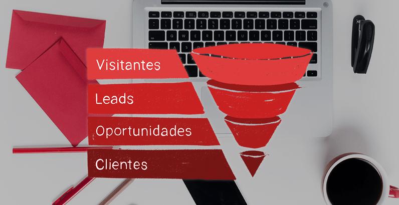Visitantes, Leads, Oportunidades, Clientes